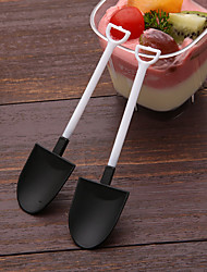 cheap -100pcs Disposable Ice Cream Spoon Shovel Scoop Individual Packed