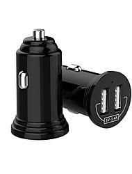 Недорогие -мини универсальное двойное автомобильное зарядное устройство USB для телефона Dual USB автомобильное зарядное устройство 3.4a быстрое зарядное устройство для iphone 7 8 x Xiaomi автомобильное зарядное