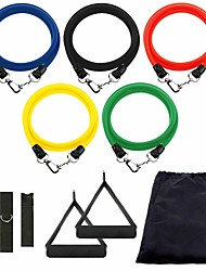 cheap -Resistance Band Set 11 pcs Sports TPE Pilates Exercise & Fitness Gym Workout Adjustable Durable Resistance Training Myofascial Release, Trigger Point Therapy, Muscle Knots, and Yoga Therapy For Men
