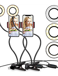 cheap -2pcs Mobile Live Broadcasting LED Fixture Light Anchor Beauty Makeup Light Vanity Lights Portable 3 Modes Touch Dimmer and Mode Switching USB for Youtube TikTok