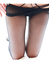 Недорогие -Жен. Тонкая ткань Колготы / Носки - Однотонный / Сексуальные платья / Мода 10D Черный Один размер