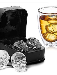 cheap -DIY Silicone Skull Ice Box Four Connected Silicone Mold 1pcs