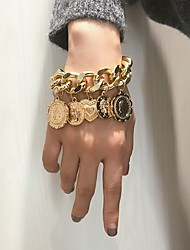 cheap -Women's Bracelet Bangles Classic Wedding Birthday Vintage Theme European Trendy Casual / Sporty Ethnic French Alloy Bracelet Jewelry Gold For Date Festival