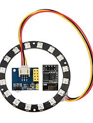 Недорогие -ws2812 light ring электронный производитель студенческого образования esp8266 esp01s 01 rgb led