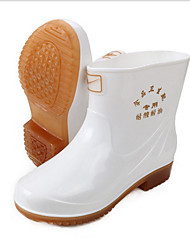 cheap -Men's PVC Spring & Summer Boots Waterproof Booties / Ankle Boots White