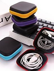 Недорогие -Держатель для наушников / Сматыватель шнура Сотовый телефон Хранение в дороге Путешествия Мини Размер для ПУ (полиуретан) Этиленвинилацетат 7.5*7.5*2.8 cm