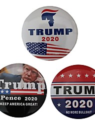 cheap -3pcs TRUMP 2020 Flag America Square Sign Brooch Republican Campaign Political Election pin Great Trump Badge Men Jewelry