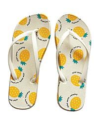 cheap -Women's Sandals Flat Sandals Summer Flat Heel Open Toe Daily PU Yellow / Fuchsia