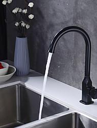 Недорогие -кухонный смеситель - Одной ручкой одно отверстие Окрашенные отделки Высокий / High Arc Другое Современный Kitchen Taps