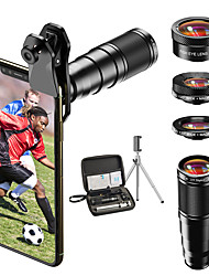 cheap -Mobile Phone Lens Lens with Filter / Fish-Eye Lens / Long Focal Lens Glasses 10X Macro 33 mm 205 ° Lens with Stand
