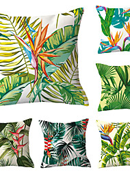 cheap -Set of 6 Polyester Pillow Cover, Geometric Floral Print Simple Classic Square Traditional Classic Throw Pillow