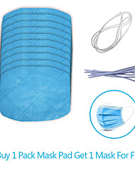 cheap -10pcs durable 3 layer disposable Mask Gasket Isolation Filter Pad Anti-fog Haze Dust-proof Breathable Mask Replacement Pad Cotton Pad