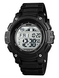 cheap -Men's Digital Watch Automatic self-winding Casual Water Resistant / Waterproof Digital Black Blue Orange / One Year / PU Leather