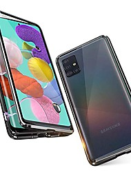 cheap -Magnetic Case For Samsung Galaxy A51 / M40S / A71 Shockproof / Water Resistant / Transparent Tempered Glass / Metal Case For Samsung Galaxy S20 Plus / Note 10 Plus / S10 Plus / A30 /A40 / S20 Ultra