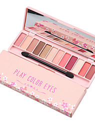 cheap -12 Colors Waterproof Eyeshadow Palette Long Lasting Matte Eye Shadow Tray Nude Eyes Makeup with Mirror and Brush