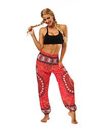 cheap -Women's Dancer Yoga Meditation Masquerade Boho Exotic Dancewear Polyster Red Pants