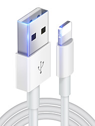 cheap -Lightning Cable 2 A 1.0m(3Ft) Normal TPE USB Cable Adapter For iPhone