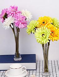 Недорогие -1 шт. Ромашка букет маленький свежий европейский ресторан гостиная украшения декоративные шелковые дома цветок
