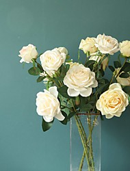 Недорогие -искусственные цветы 1 ветка классическая свадьба европейские розы вечный цветок настольный цветок