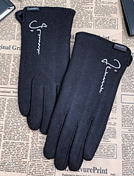 cheap -Men's Basic Fingertips Gloves - Solid Colored