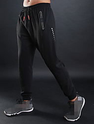 cheap -Men's Jogger Pants Joggers Running Pants Track Pants Sports Pants Athletic Athleisure Wear Bottoms Sport Running Fitness Jogging Breathable Soft Black Grey Solid Colored / High Elasticity