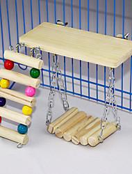 Недорогие -Деревянная платформа с игрушками для жевания лавовых выступов для мышей шиншилла крыса песчанка карликовый хомяк