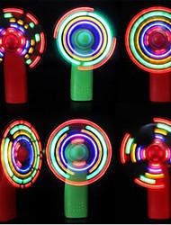 Недорогие -мини ручной электрический вентилятор охлаждения 4 изменение цвета светодиодный свет концертный реквизит, используемый в качестве игрушек для празднования или вечеринки