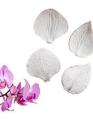 Недорогие -фаленопсис гортензия лист двухсторонняя пресс-форма помадка торт силиконовая форма