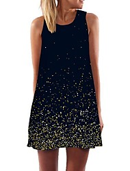 cheap -Women's Black Dress A Line Print S M