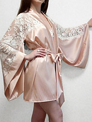 cheap -Women's Backless Chemises & Gowns Nightwear Solid Colored Blushing Pink S M L