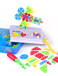 cheap -Building Blocks Educational Toy Construction Set Toys Screw Toy Drill Set 193 pcs Family Bolster compatible Plastic Shell Legoing Electronic DIY Hand-made Boys and Girls Toy Gift / Kid's