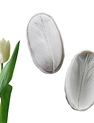 cheap -Tulip feather double-sided texture stamper fondant cake silicone mold baking tool