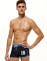 cheap -Men's Black White Navy Blue Bottoms Swimwear Swimsuit - Color Block S M L Black