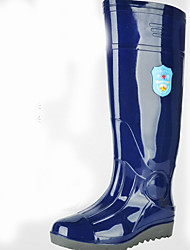 cheap -Men's PVC Spring & Summer Boots Waterproof Knee High Boots Blue
