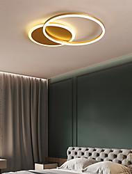 cheap -2-Light 55 cm Geometric Shapes Flush Mount Lights Aluminum Brushed Painted Finishes LED Chic & Modern 110-120V 220-240V