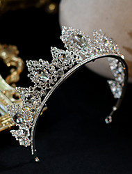 cheap -Women's Tiaras For Wedding Party Evening Prom Festival Byzantine Alloy White  / Silver 1pc