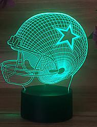 Недорогие -пентаграмма регби шляпа майами красочные сенсорный 3d подарок ночник usb dallas ковбойский шлем