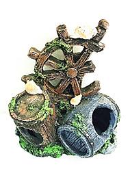 cheap -Fish Tank Aquarium Decoration Fish Bowl Ornament Tubes & Tunnels Brown Non-toxic & Tasteless Resin 1 pc