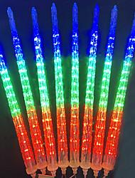 Недорогие -Новая версия душ дождь фары 40 см 8 водонепроницаемый ледяной конус метеор огни 288 светодиодов падающий дождь фары на Рождество открытый сад дом окно рождественские украшения дерева