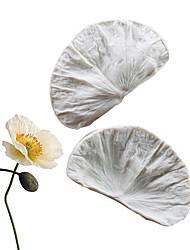 Недорогие -мак цветок лепесток двухсторонний узор плесень помадка торт силиконовые формы домашняя выпечка посуда