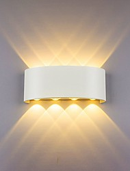 cheap -Wall Lamp Led Aluminum Outdoor Indoor Ip65 Up Down White Black Modern For Home Stairs Bedroom Bedside Bathroom Light