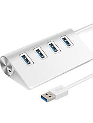 cheap -LITBest 4 Ports USB 3.0 HUB Aluminum Alloy Silver HUB Portable Multi-USB  for PC Laptop