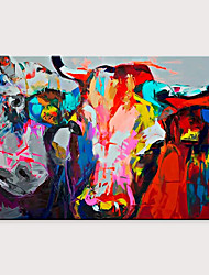 cheap -Freehand Abstract Knife Painting Oil Painting of Animals Popular Pop Art Cattle Large Size Frameless Painting Rolled Without Frame