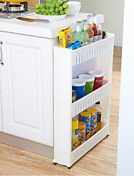 Недорогие -высокое качество съемный трехслойный щелевой стеллаж для хранения пластмасс многофункциональный кухонный шкаф 1 шт.