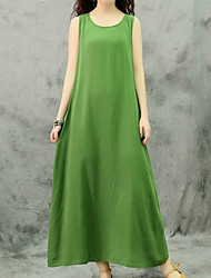 cheap -Women's Swing Dress - Solid Color Orange Green White One-Size