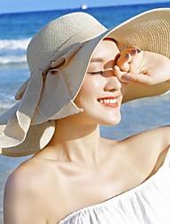 Недорогие -Жен. Классический Шляпа от солнца Однотонный Лиловый Желтый Розовый