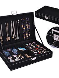 cheap -Jewelry Box - Leather Black, Red, Green 28 cm 19 cm 6.5 cm / Women's