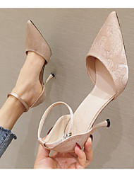 cheap -Women's Heels Stiletto Heel Pointed Toe PU Spring & Summer Black / Light Pink