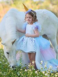 cheap -Kids Girls' Easter Color Block Dress White