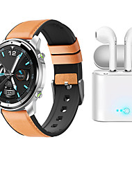 cheap -H15 Smartwatch for Samsung/ iPhone/ Android Phones, Bluetooth Fitness Tracker with TWS Headphones Support Heart Rate/ Blood Pressure Measurement